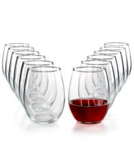 Image of Martha Stewart Essentials 12-Pc. Stemless Wine Glasses Set, Created for Macy's