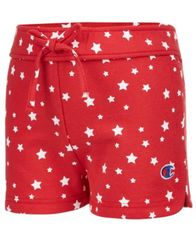 Image of Champion Star-Print Shorts, Little Girls