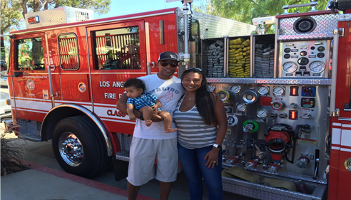 Family photo @ Fire Station Park Dedication in Woodland Hills, CA.