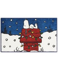 "Image of Nourison Snoopy Sleeping Holiday 18"" x 30"" Accent Rug"