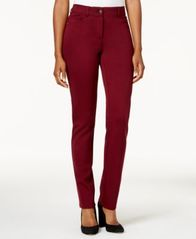 Image of Style & Co Faux-Pocket Slim-Fit Pants, Created for Macy's