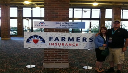 Championship 2013 -- Banner with new Farmers® Logo.