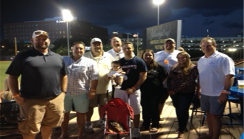 The Farmer's® gang at the Akron game.