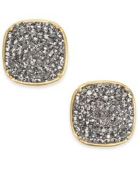 Image of kate spade new york Gold-Tone Pavé Square Stud Earrings