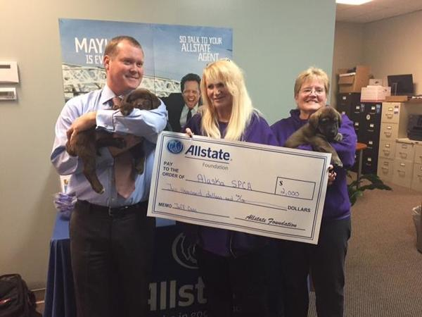 Jeff Case - Good Hands Grant at SPCA Animal Adoption Event