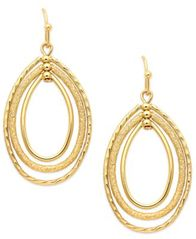 Image of Charter Club Oval Oribital Drop Earrings