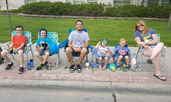 Steve Moehr's family at the Frontier Days parade