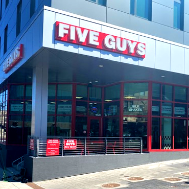 Five Guys at 727 South Crouse Ave. in Syracuse, NY.