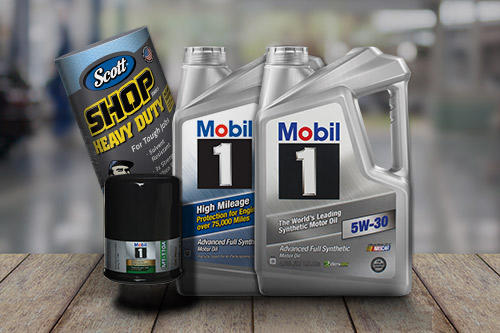 With purchase of Mobil 1 Oil Change Special