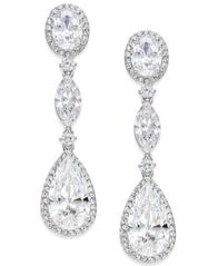 Image of Danori Oval Crystal Drop Earrings, Created for Macy's
