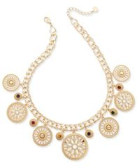 Image of Charter Club Gold-Tone Colored Stone Statement Necklace, Created for Macy's