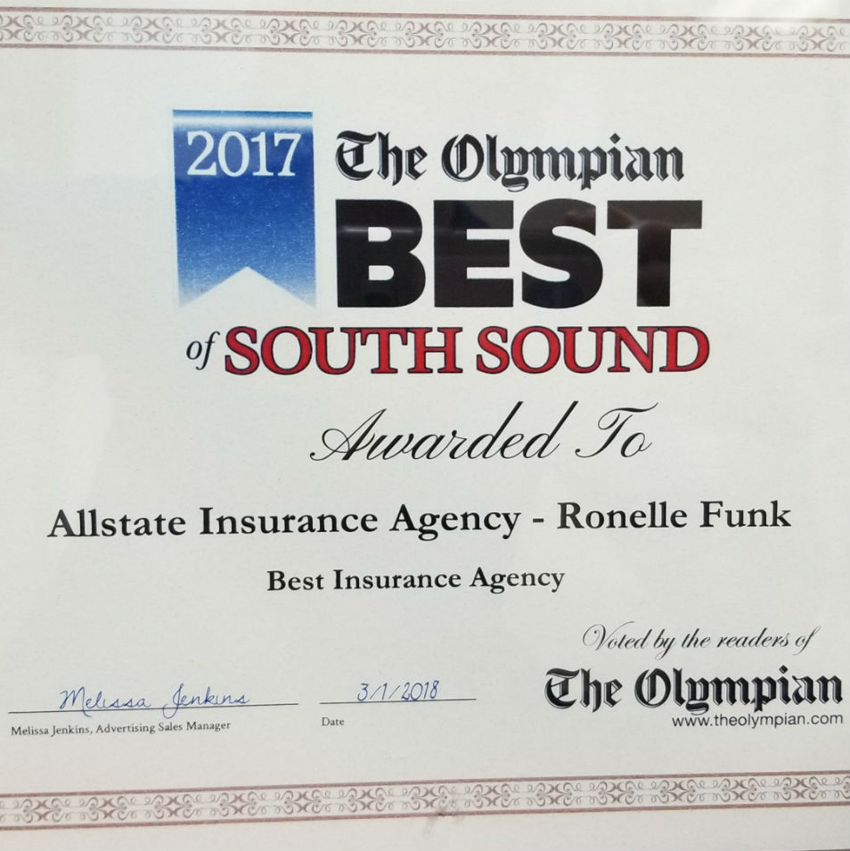 All State Quote: Car Insurance In Lacey, WA - Ronelle Funk