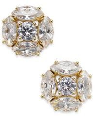 Image of kate spade new york Gold-Tone Crystal Cluster Stud Earrings