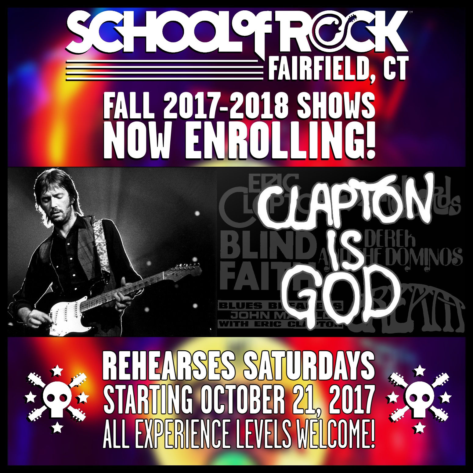 Image of FALL 2017-2018 SHOW #5: CLAPTON IS GOD