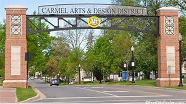Carmel Arts District Entrance archway
