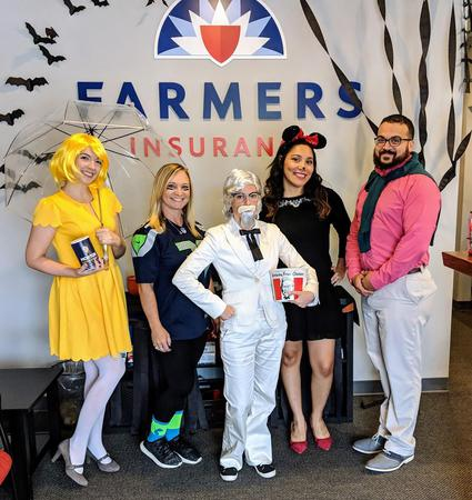 Farmers Agents dressed in Halloween costumes