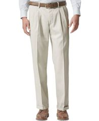 Image of Dockers® Men's Stretch Relaxed Fit Comfort Khaki Pants Pleated - Cuffed D4