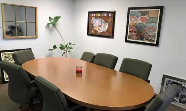 A conference room inside of Agent Joyce Felder's office.