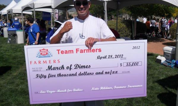 Raising Money for the March of Dimes at UNLV