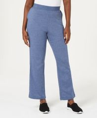 Image of Karen Scott Side-Pocket Active Fleece Pants, Created for Macy's