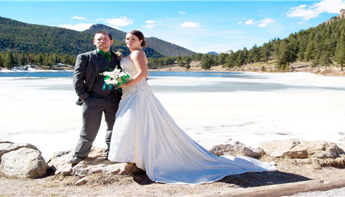 My beautiful wife and I at Estes Park, Colorado our wedding day. Starns Agency