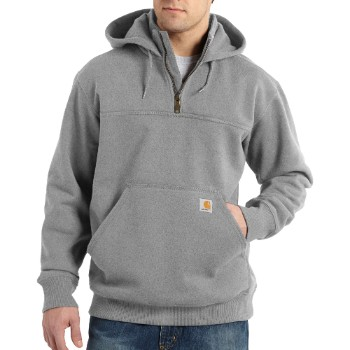 Image of RAIN DEFENDER® PAXTON HEAVYWEIGHT HOODED ZIP MOCK SWEATSHIRT