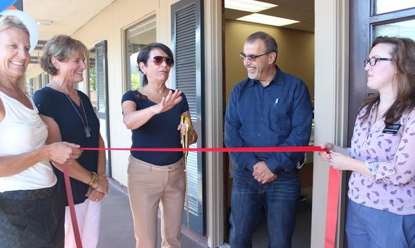 Ribbon cutting ceremony with the Los Gatos Mayor