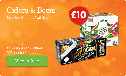 Beer offer available until 14th July