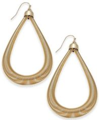 "Image of Thalia Sodi Extra Large Gold-Tone Teardrop Hoop Earrings, 2.5"", Created for Macy's"
