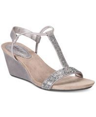 Image of Style & Co Mulan 2 Embellished Evening Wedge Sandals, Created for Macy's