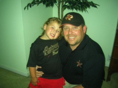Olivia and I going to her first Astros baseball game!