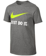 Image of Nike Just Do It Swoosh Tee, Big Boys