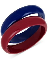 Image of IRIS X INC International Concepts 2-Pc. Set Colorblock Acrylic Bangle Bracelets, Created for Macy's