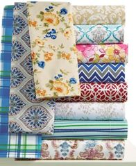 Image of Printed Microfiber Twin 3-Pc Sheet Set, Created for Macy's