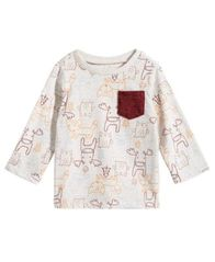 Image of First Impressions Baby Boys Animal-Print Pocket T-Shirt, Created for Macy's
