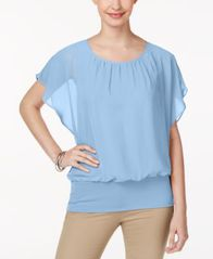 Image of JM Collection Flutter-Sleeve Top, Created for Macy's