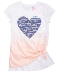 Image of Epic Threads Heart Graphic-Print T-Shirt, Big Girls, Created for Macy's
