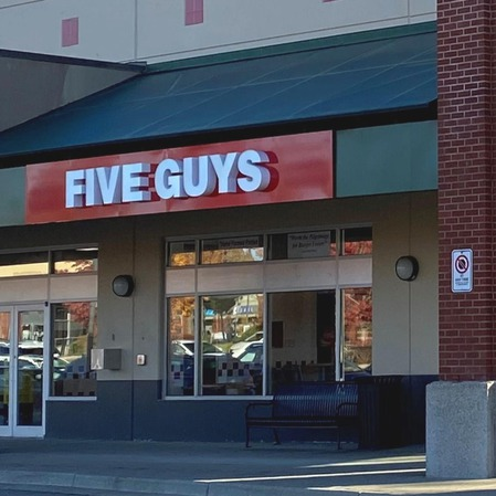 Five Guys at 12101 - 72nd Avenue in Surrey, BC.