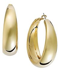 Image of I.N.C. Gold-Tone Wide Hoop Earrings