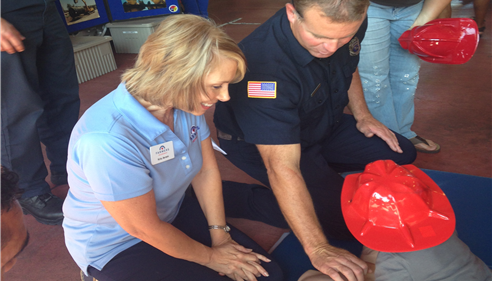 Learning CPR at the Firestation
