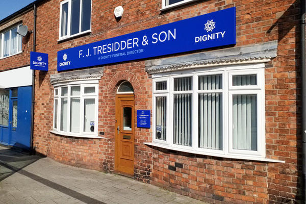 F. J. Tresidder Funeral Directors in Crewe, Cheshire.