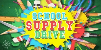 Bryan Fallon - Stop by our office and contribute to our Driven to Donate Campaign – Back to School Supply Drive!