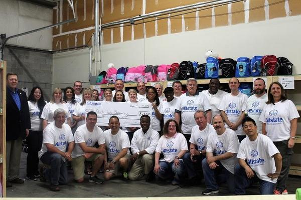 Chris Just - Allstate Foundation Helping Hands Grant for Backpack Beginnings