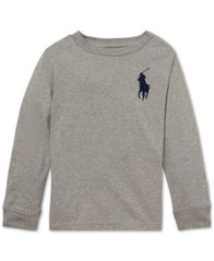 Image of Polo Ralph Lauren Little Boys Cotton Long-Sleeve T-Shirt
