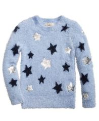 Image of Pink Republic Sequin Stars Sweater, Big Girls (7-16)