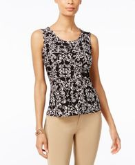 Image of JM Collection Jacquard Sleeveless Top, Created for Macy's