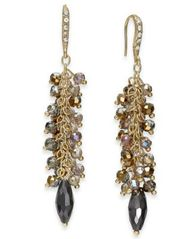 Image of I.N.C. Gold-Tone Shaky Bead Drop Earrings, Created for Macy's