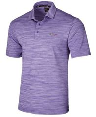 Image of Greg Norman For Tasso Elba Men's 5 Iron Space-Dye Performance Golf Polo, Created for Macy's