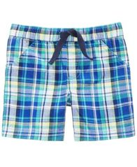 Image of First Impressions Plaid Cotton Shorts, Baby Boys, Created for Macy's