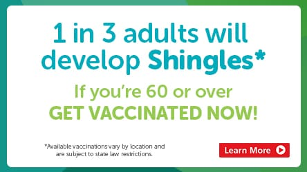 1 in 3 adults will develop Shingles